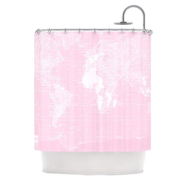 KESS InHouse Catherine Holcombe Her World Shower Curtain (69x70)