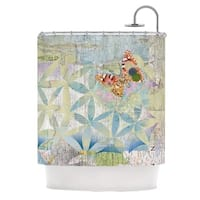 KESS InHouse Catherine Holcombe Miraculous Recovery Butterfly Shower Curtain (69x70)