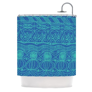 KESS InHouse Catherine Holcombe Beach Blanket Confusion Shower Curtain (69x70)