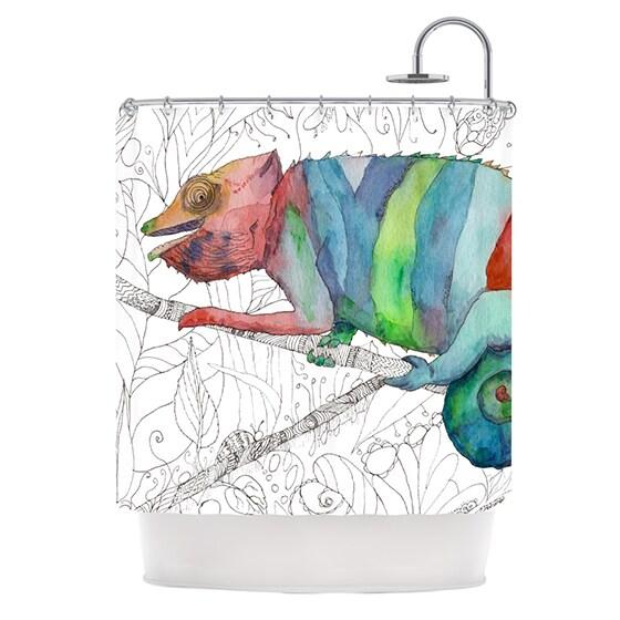 KESS InHouse Catherine Holcombe Chameleon Fail Shower Curtain (69x70)