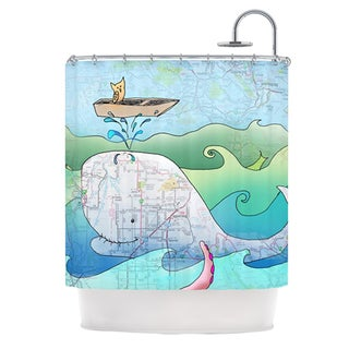 KESS InHouse Catherine Holcombe I'm on a Boat Shower Curtain (69x70)