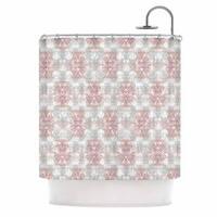 KESS InHouse Carolyn Greifeld Damask Splatter Pink Gray Shower Curtain (69x70)