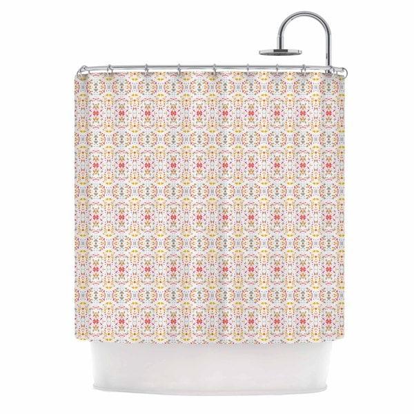 KESS InHouse Carolyn Greifeld Bright Modern Shabby Pink Pattern Shower Curtain (69x70) - 69 x 70