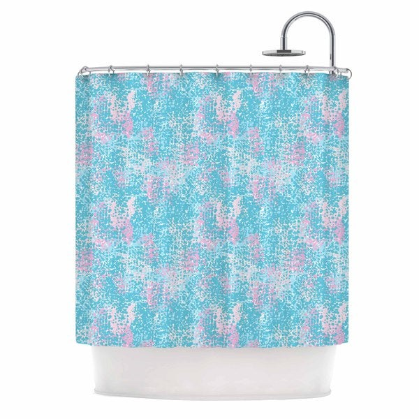 KESS InHouse Carolyn Greifeld Painterly Pastels Blue Painting Shower Curtain (69x70) - 69 x 70