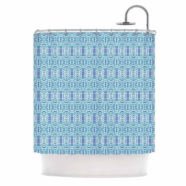 KESS InHouse Carolyn Greifeld Shabby Blues Purple Digital Shower Curtain (69x70)