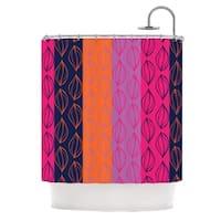 KESS InHouse Anneline Sophia Tropical Seeds Pink Orange Shower Curtain (69x70) - 69 x 70