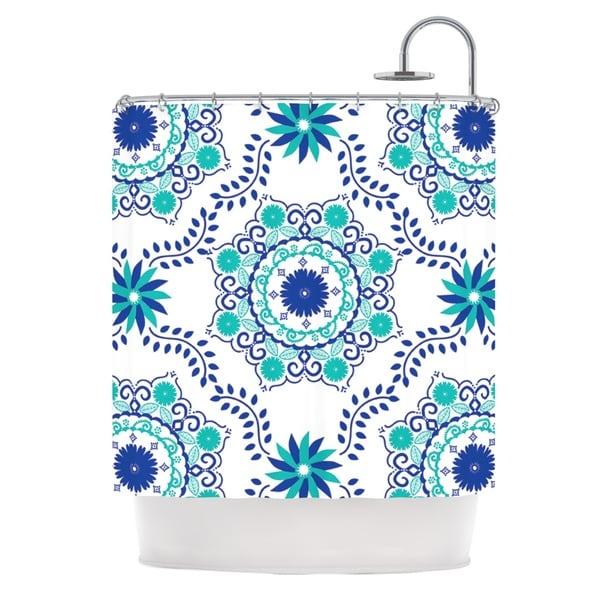 KESS InHouse Anneline Sophia Let's Dance Blue Teal Aqua Shower Curtain (69x70)