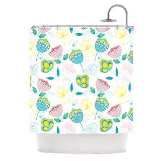 KESS InHouse Anneline Sophia Indie Floral Shower Curtain (69x70)