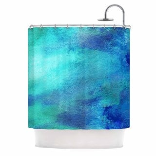 KESS InHouse Ashley Rice AC3 Teal Watercolor Shower Curtain (69x70)
