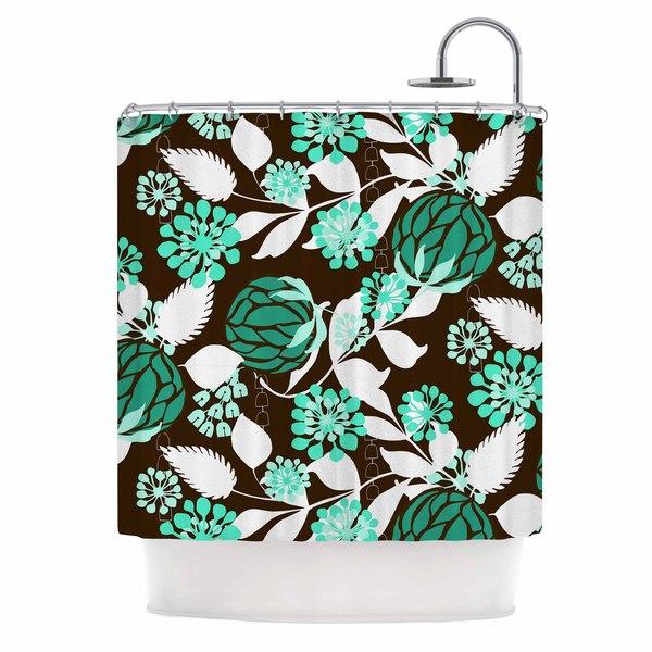 KESS InHouse Amy Reber Bold Relief Green Brown Shower Curtain (69x70)