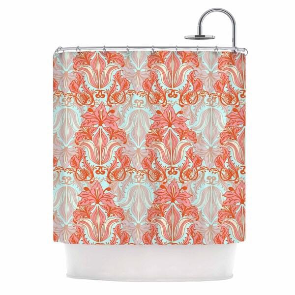 KESS InHouse Amy Reber Baroque Orange Pattern Shower Curtain (69x70)