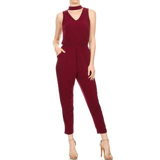 JED Women's Elastic Waist Choker Jumpsuit|https://ak1.ostkcdn.com/images/products/15054717/P21547708.jpg?impolicy=medium
