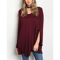 JED Women's Layer Effect Soft Knit Tunic Top