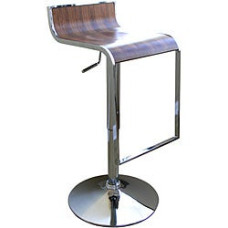 Baxton Studio Modern Adjustable Curved Bar Stool - Thumbnail 2