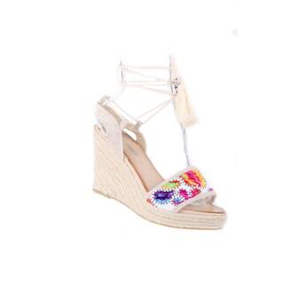 Xehar Women's Casual Platform Wedge Heel Tassel Up Sandal (More options available)