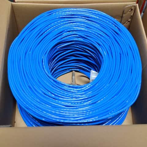 Premiertek Cat6 Bulk Cable 1000ft (Blue)