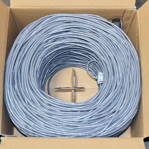 Premiertek Cat6 Bulk Bare Copper Network Cable 1000ft (Gray)