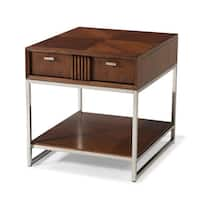 Klaussner Furniture Simply Urban Dark Brown Wood End Table