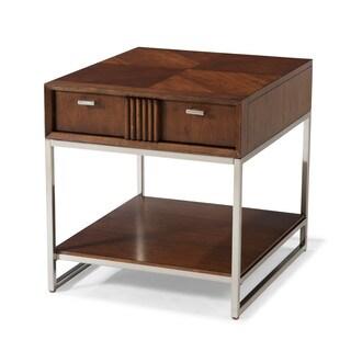 Klaussner Furniture Simply Urban Dark Brown Wood End Table
