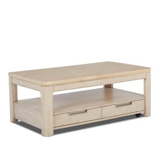Klaussner Furniture Monterey White Wood Cocktail Table