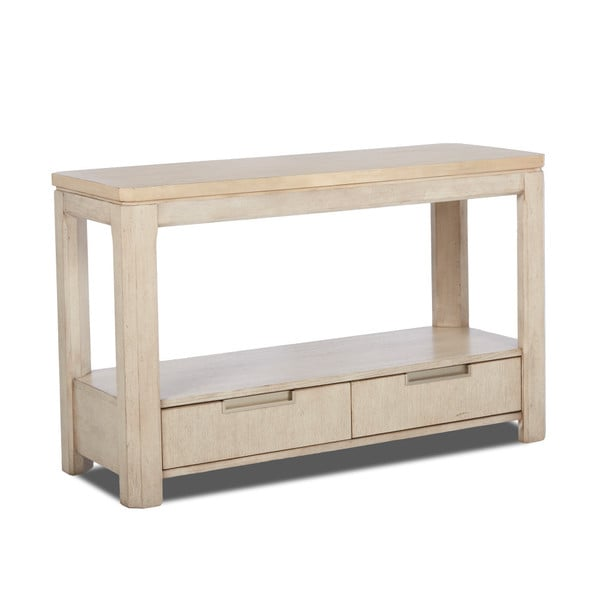 Klaussner Furniture Monterey White Wood Sofa Table