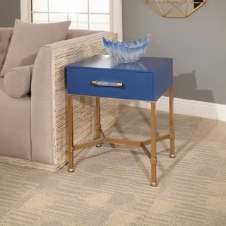 Abbyson Sophie Blue and Gold Iron End Table