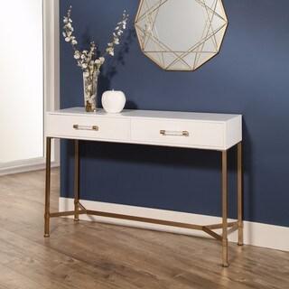 Abbyson Living Sophie White/Gold Iron Sofa Table