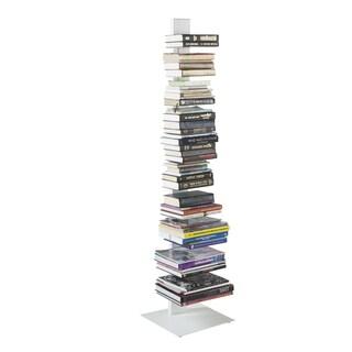 Sapiens White Steel 60-inch Bookcase Tower