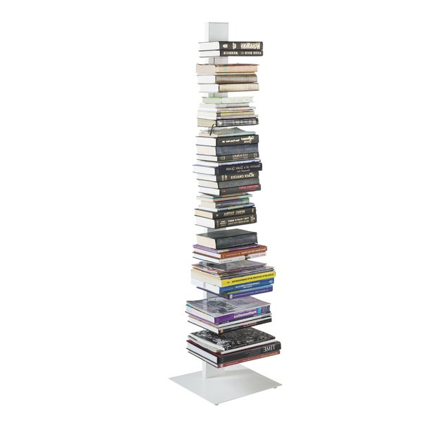 Sapiens White Steel 60 Inch Bookcase Tower