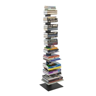 Euro Style Sapiens Black Steel 60-inch Bookcase Tower