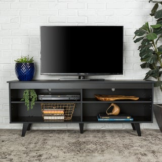 58-inch Wood Simple Contemporary Console (Option: Black - Black Finish)