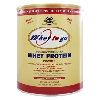 Solgar Whey To Go 41-ounce Protein Powder Natural Chocolate Flavor
