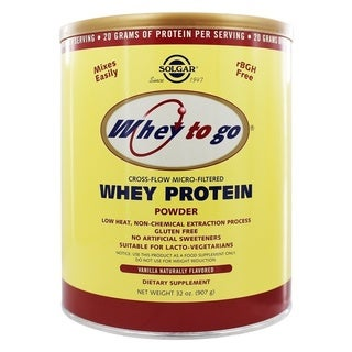 Solgar Whey To Go Whey 32-ounce Protein Powder Natural Vanilla