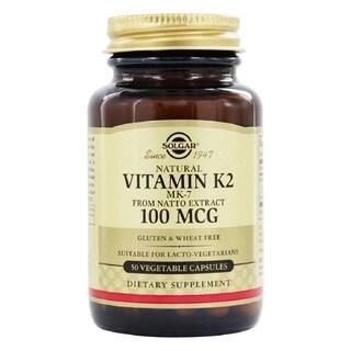 Solgar Natural Vitamin K2 (MK-7) 100 mcg (50 Vegetable Capsules)