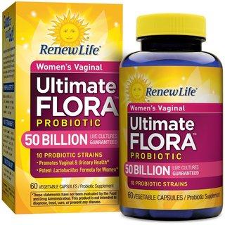Renew Life Women's Vaginal Probiotic Ultimate Flora 50 Billion (60 Capsules)