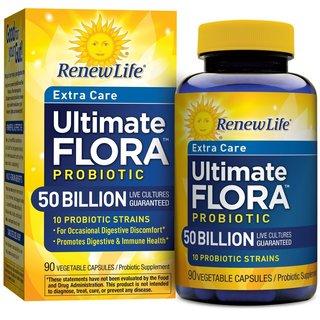 Renew Life Extra Care Probiotic Ultimate Flora 50 Billion (90 Capsules)