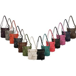 MKF Collection Vintage Stiella Multipocket Cross-body Shoulder bag by Mia K Farrow