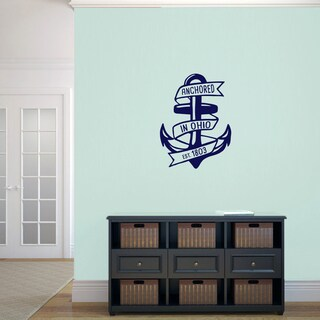 Anchored in Ohio Wall Decal - 18 wide x 24 tall (More options available)