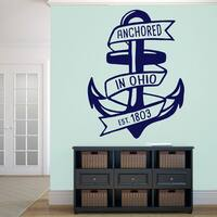 Anchored in Ohio Wall Decal - 36 wide x 48 tall