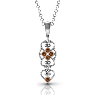 .925 Sterling Silver Smoked-Topaz Pendant by Lucia Costin