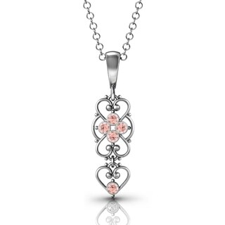 .925 Sterling Silver Vintage-Rose Pendant by Lucia Costin