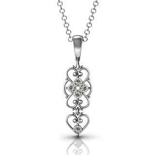 Beading pendants for less overstock 925 sterling silver black diamond pendant by lucia costin aloadofball Image collections