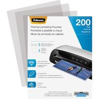 Fellowes Thermal Laminating Pouches - Letter, 3 mil, 200 pack