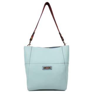 Nikky Hensley Blue Hobo Handbag