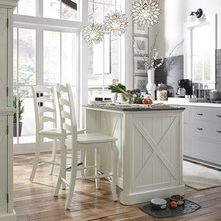 Seaside Lodge Kitchen Island & 2 Stools