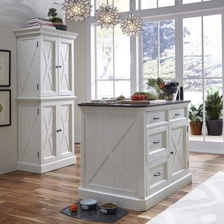 Havenside Home Driftwood Seaside Lodge Kitchen Island