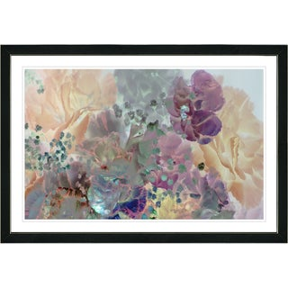 Studio Works Modern Framed Fine Art Floral Painting 'Pastel Cream Scented Bloom' Wall Art Giclee Print by Zhee Singer