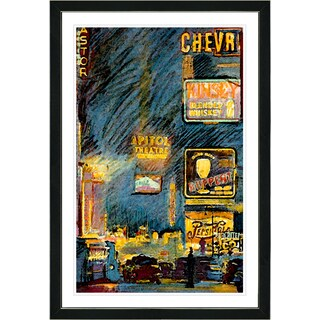 Studio Works Modern Framed Fine Art Contemporary City Still Life Painting 'Chevrolet' Wall Art Giclee Print by Zhee Singer