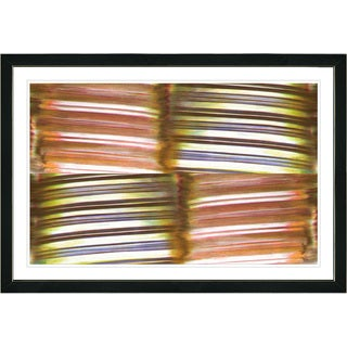 Studio Works Modern Framed Fine Art Contemporary Abstract Painting 'Chiclets' Wall Art Giclee Print by Zhee Singer