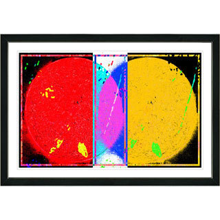Studio Works Modern Framed Fine Art Contemporary Abstract Painting Towards Eclipse Wall Art Giclee Print by Zhee Singer